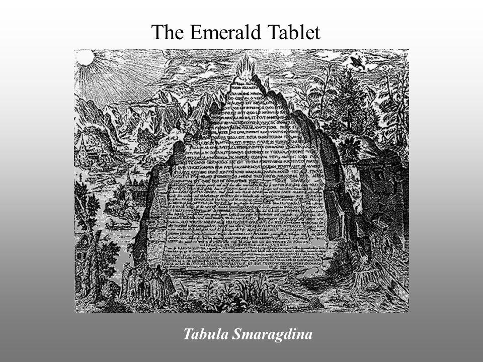 The Emerald Tablet Tabula Smaragdina