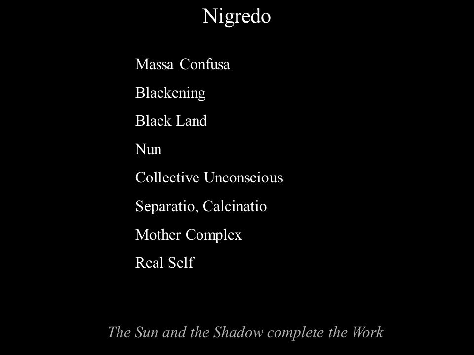 The Sun and the Shadow complete the Work