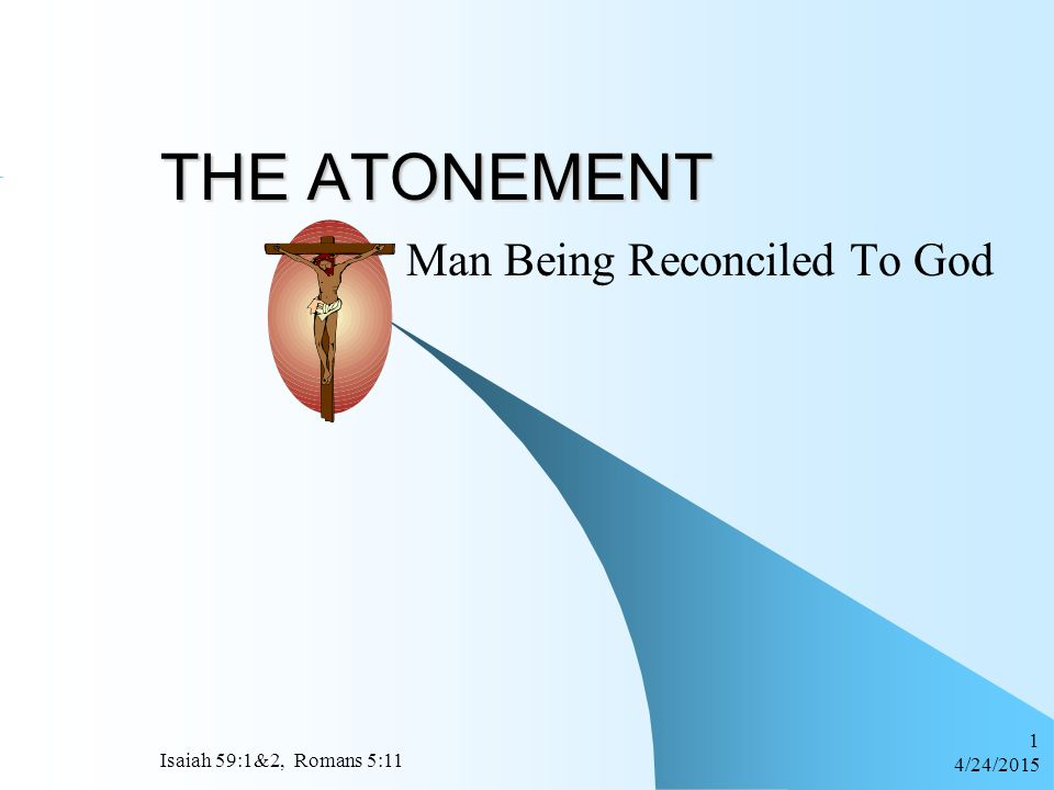 Man Being Reconciled To God