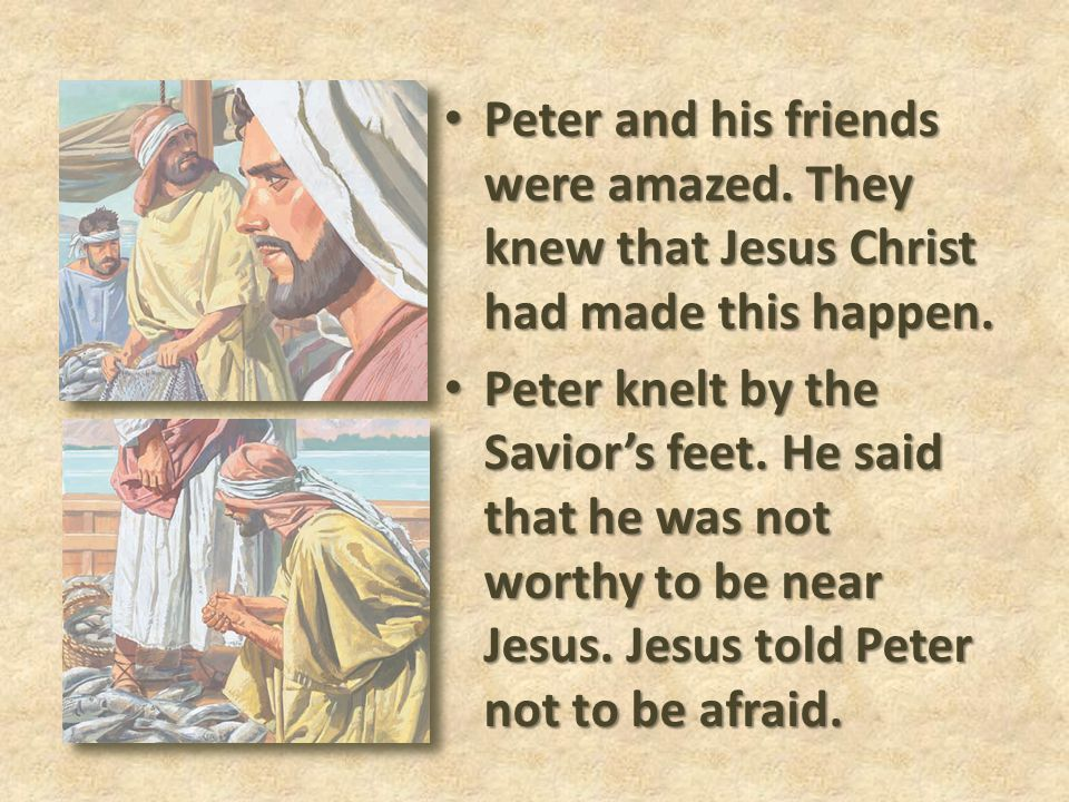 Peter and his friends were amazed