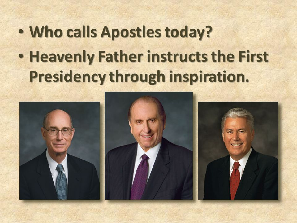Who calls Apostles today