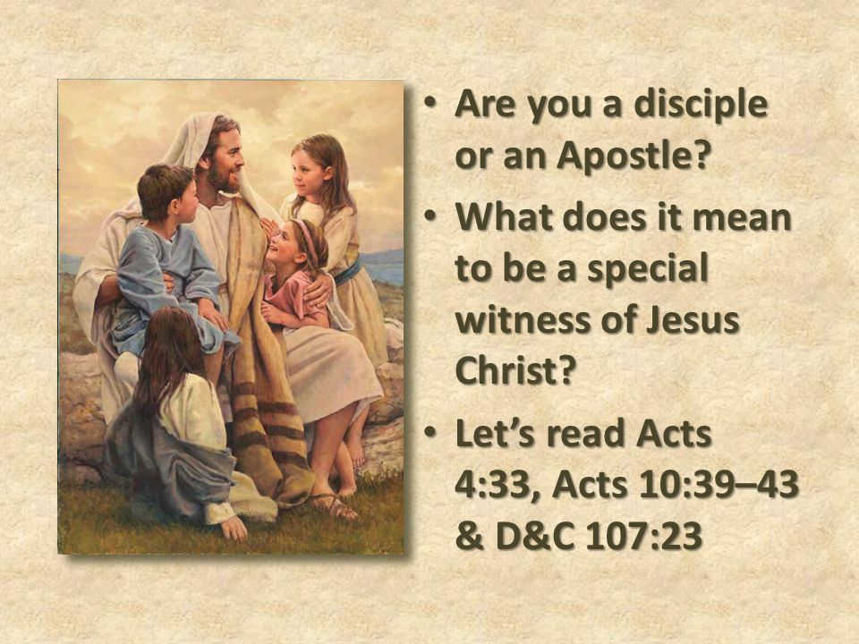Are you a disciple or an Apostle