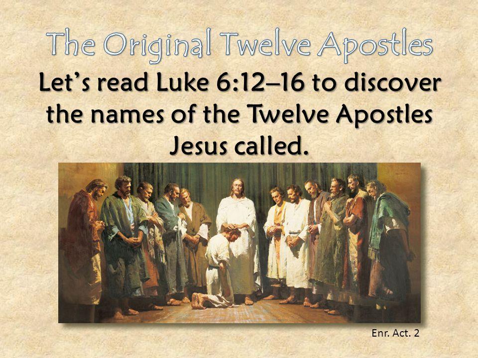 The Original Twelve Apostles
