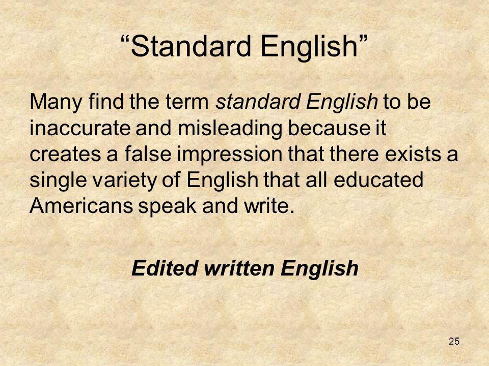 Edited written English