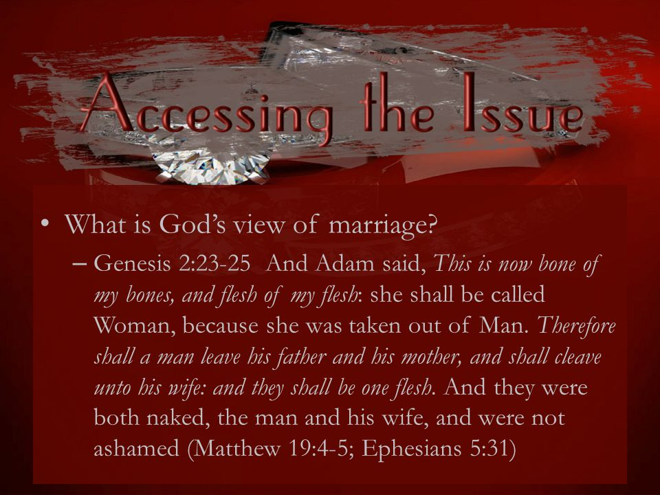 What is God's view of marriage