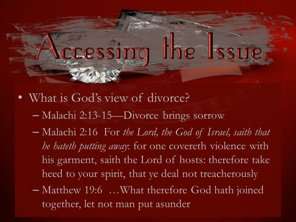 What is God's view of divorce