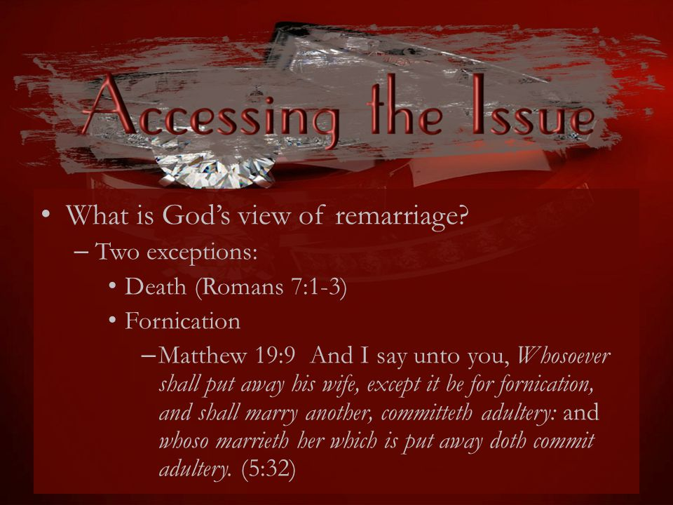 What is God's view of remarriage