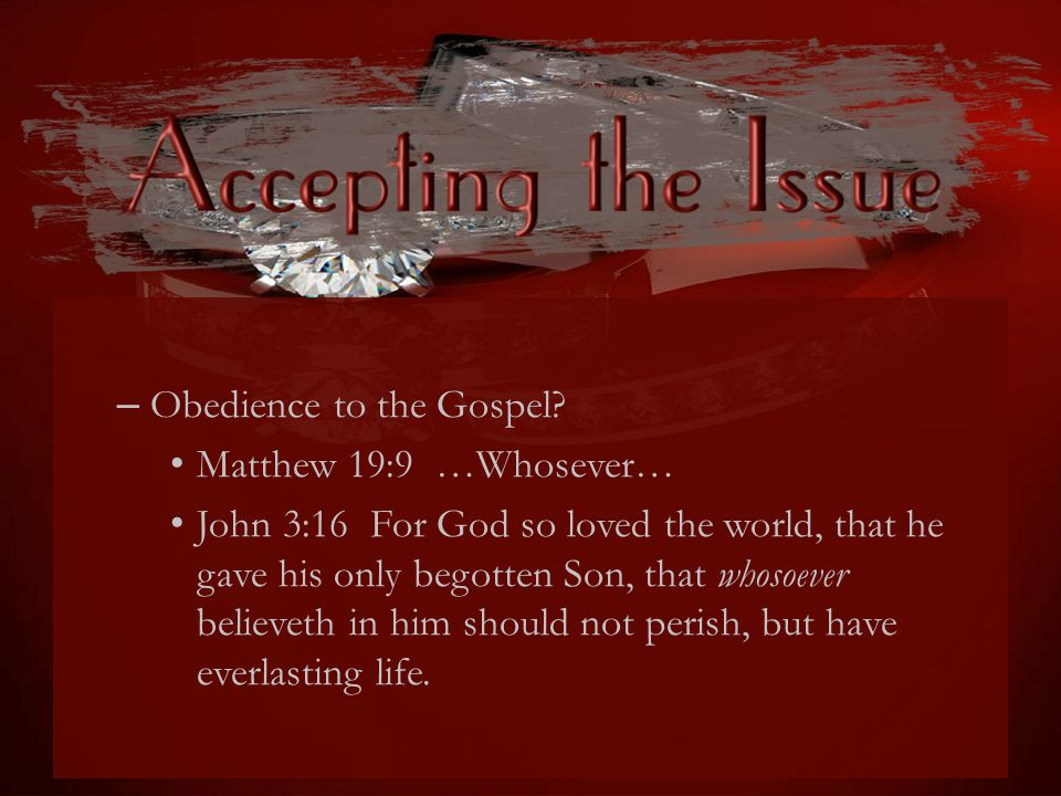 Obedience to the Gospel