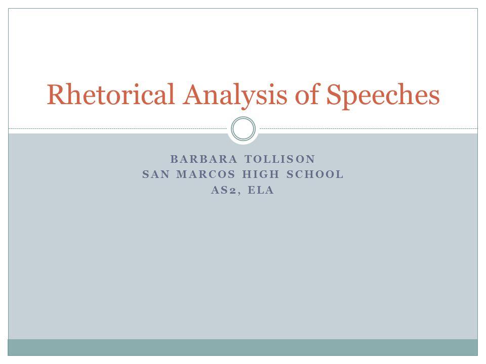 short speeches for rhetorical analysis
