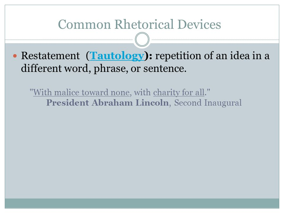 Common rhetorical devices in essays