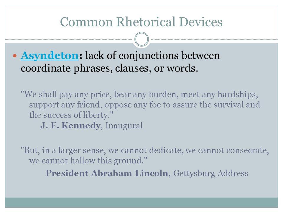 Common Rhetorical Devices