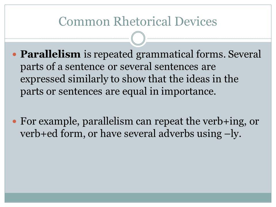 rhetorical devices in speeches examples