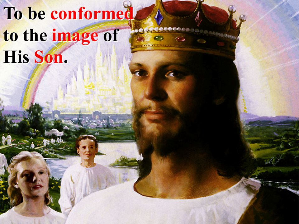 To be conformed to the image of His Son.