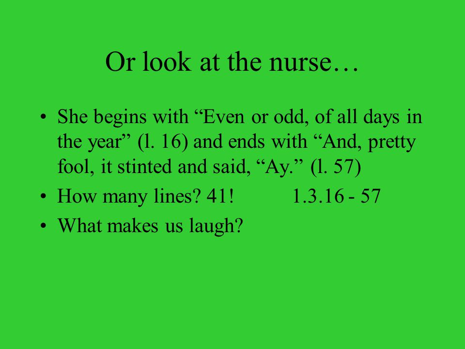 Or look at the nurse…