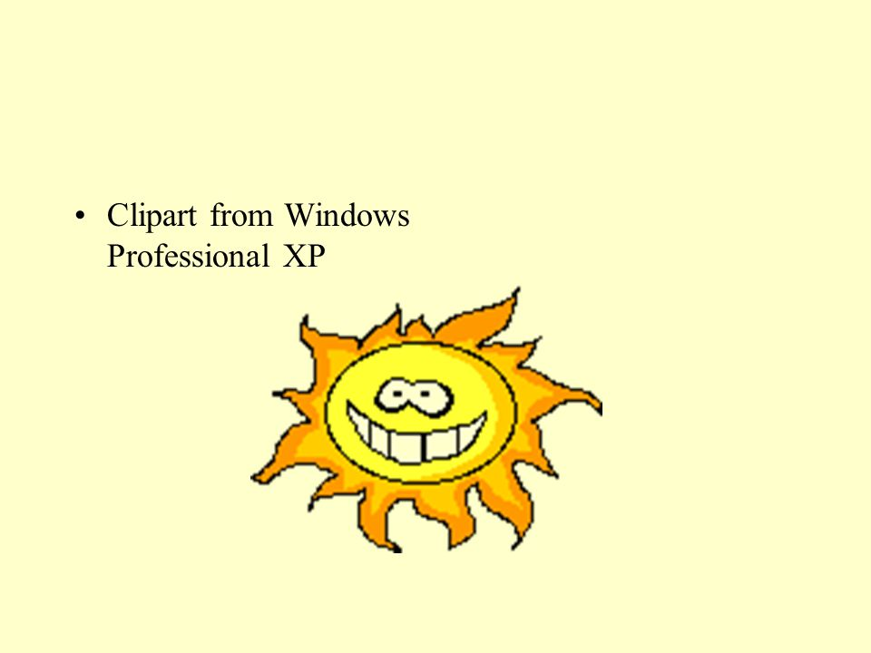Clipart from Windows Professional XP