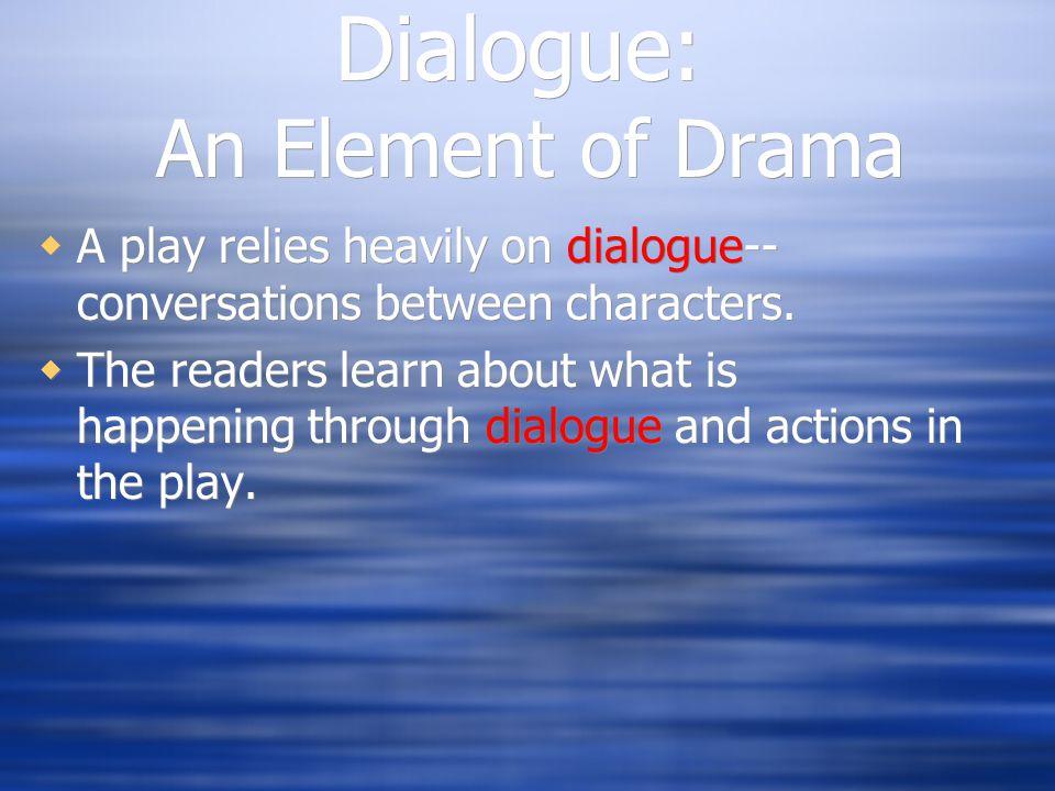 Dialogue: An Element of Drama