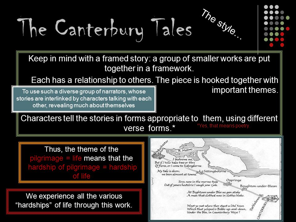 The Canterbury Tales The style…