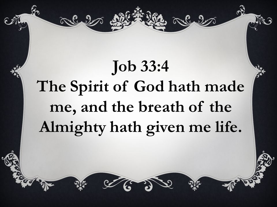 The Spirit of God hath made