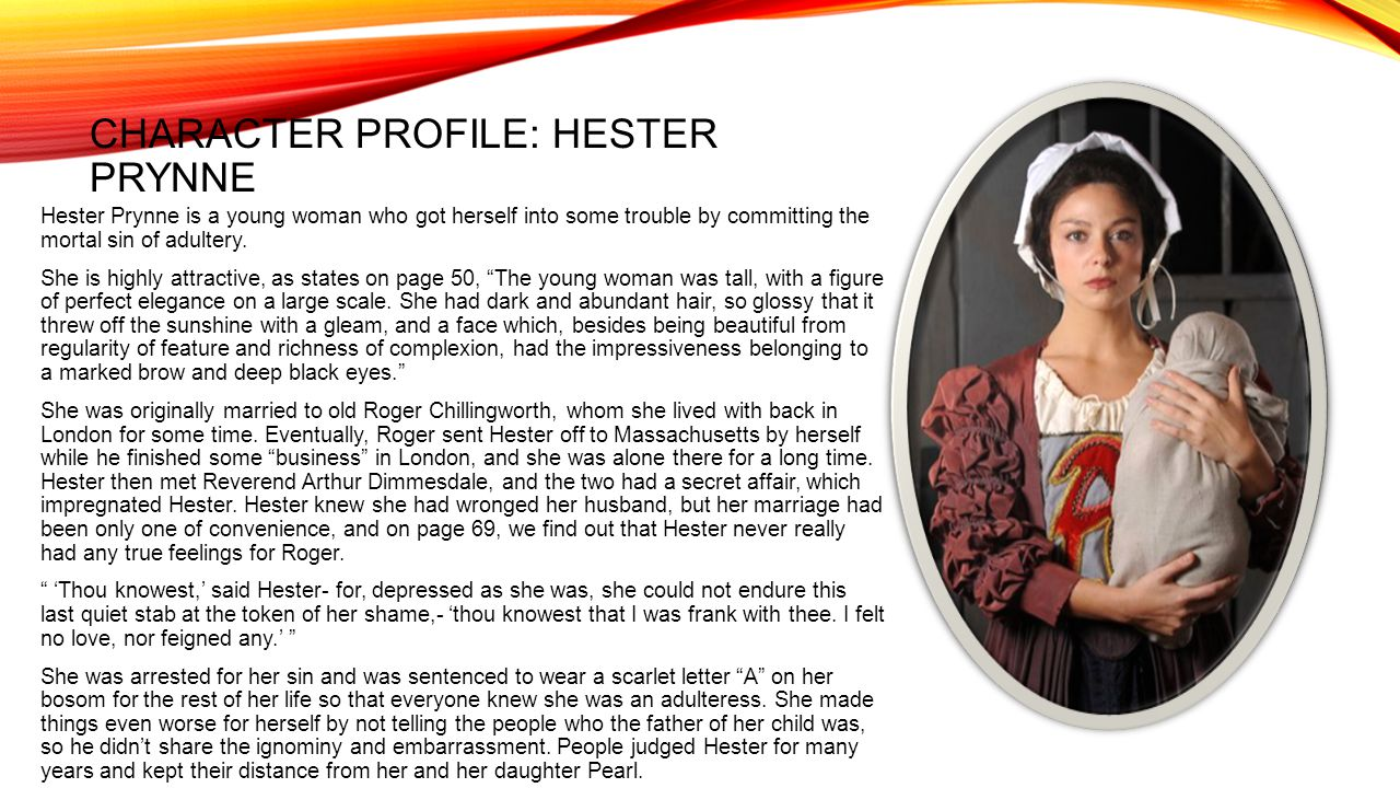 the scarlet letter book analysis ppt video online character profile hester prynne