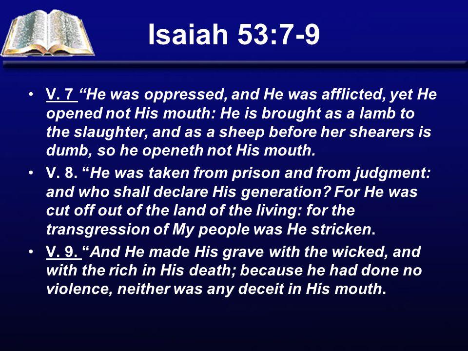 Isaiah 53:7-9