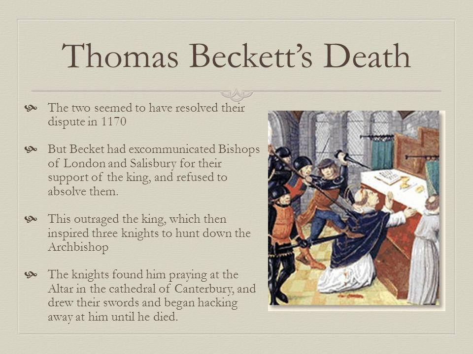 Thomas Beckett's Death