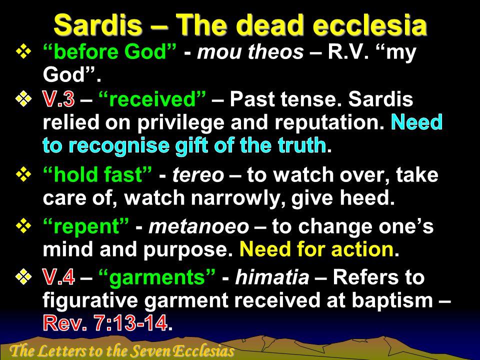Sardis – The dead ecclesia