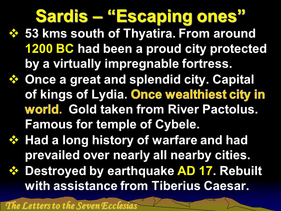 Sardis – Escaping ones