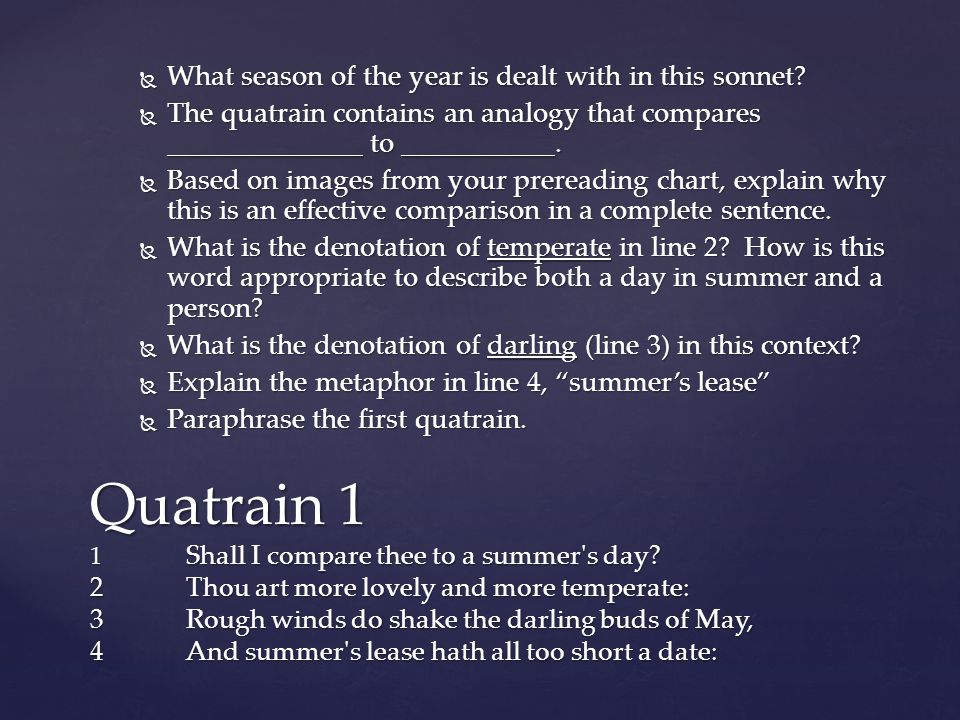What season of the year is dealt with in this sonnet