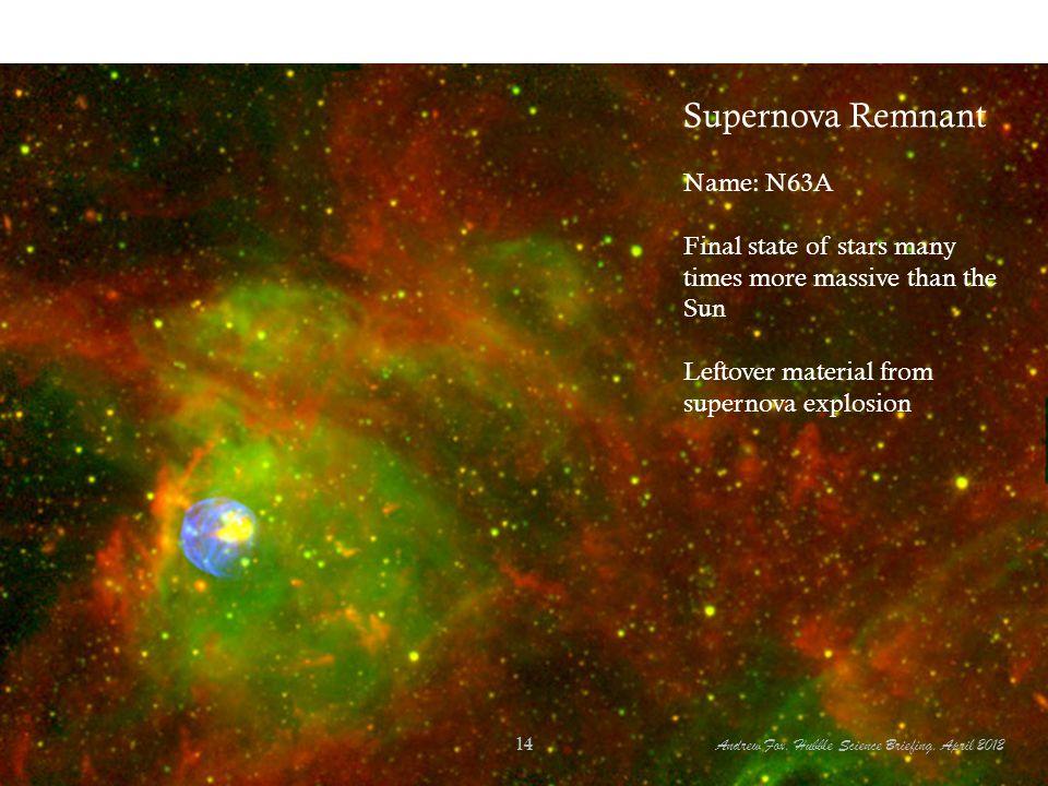 Supernova Remnant Name: N63A
