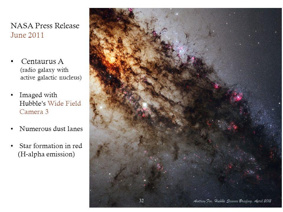 NASA Press Release June 2011 Centaurus A