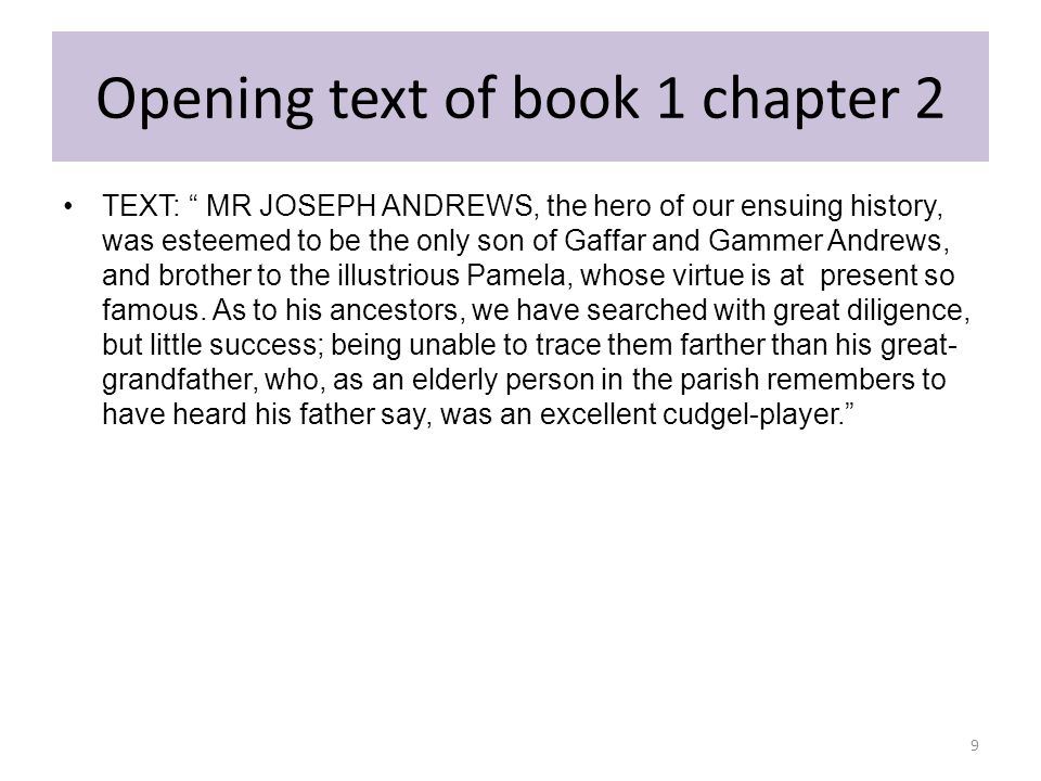 Opening text of book 1 chapter 2