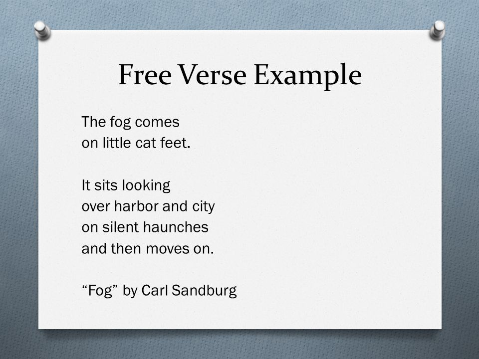 Free Verse Example