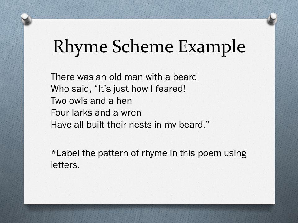 Rhyme Scheme Example