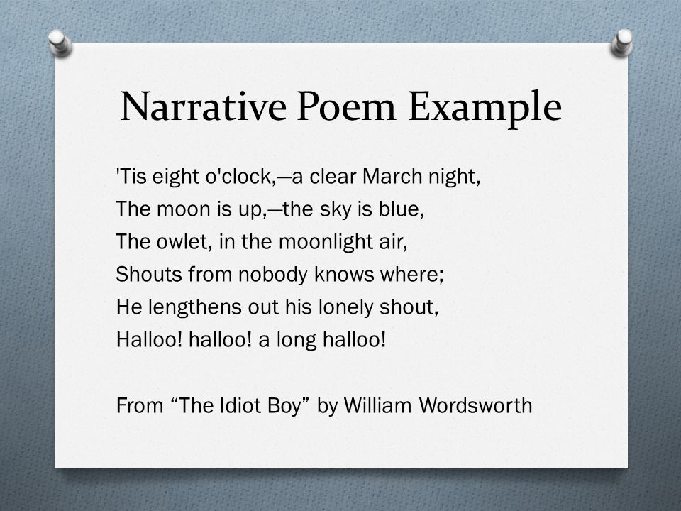Essays on narrative poetry