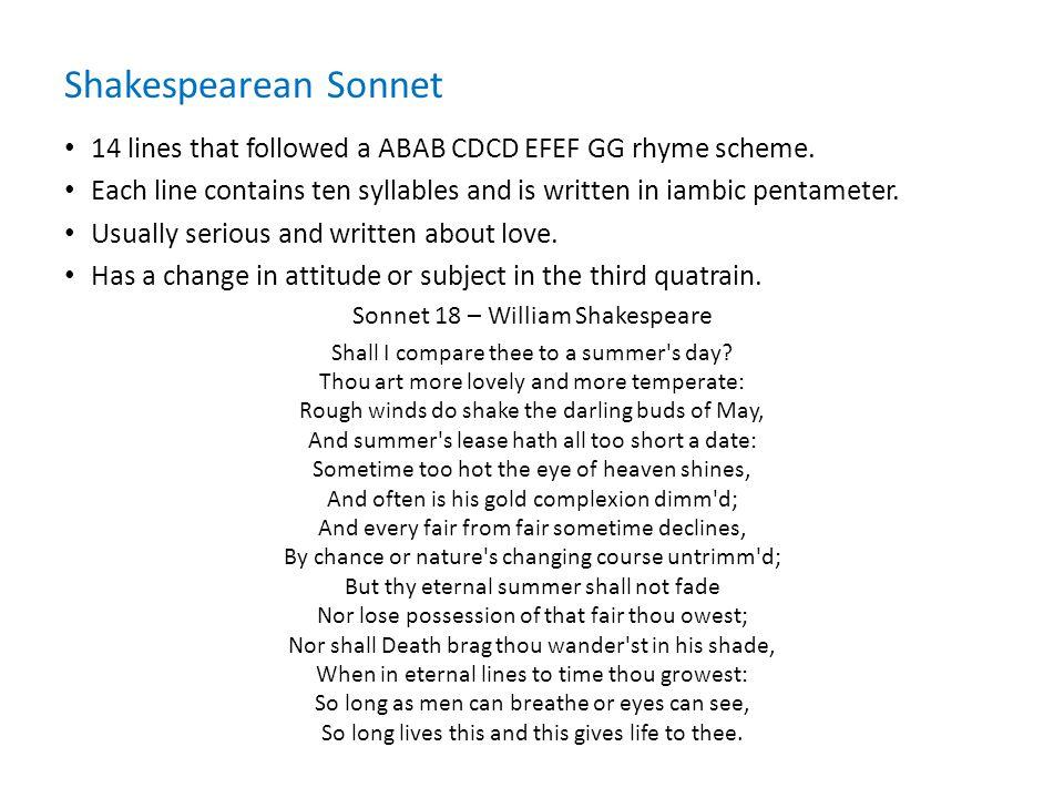 Sonnet 18 – William Shakespeare