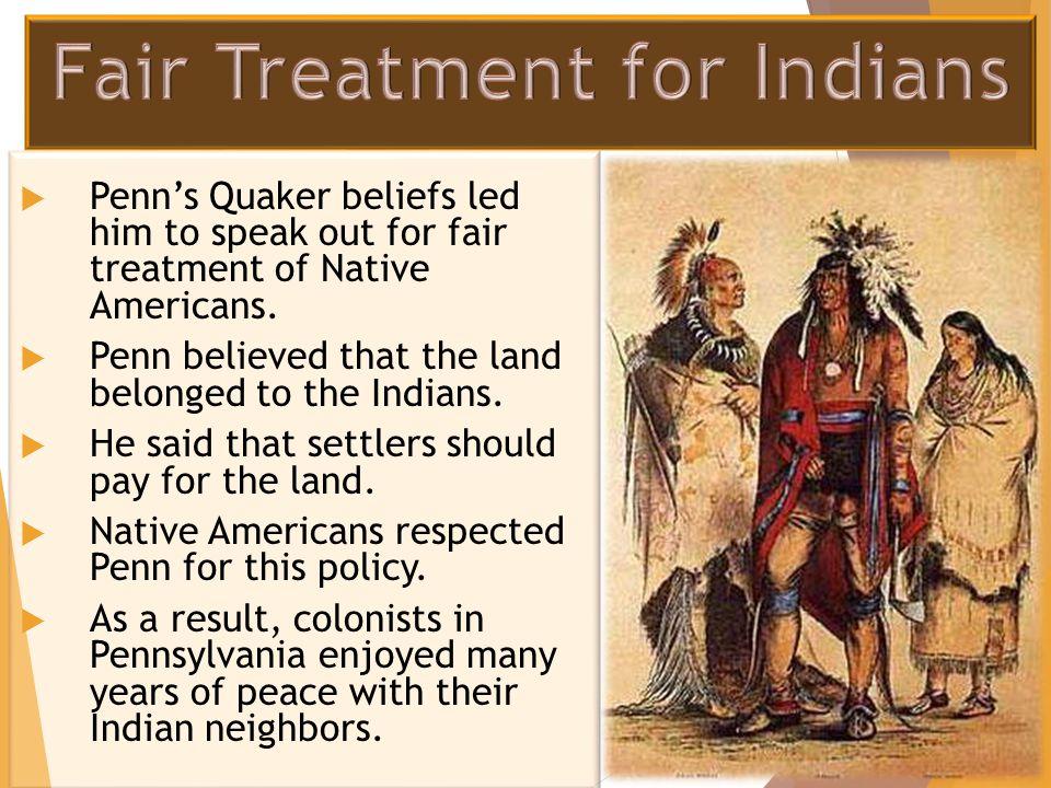 Fair Treatment for Indians