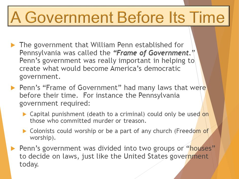 A Government Before Its Time