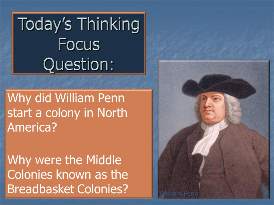 Today's Thinking Focus Question: