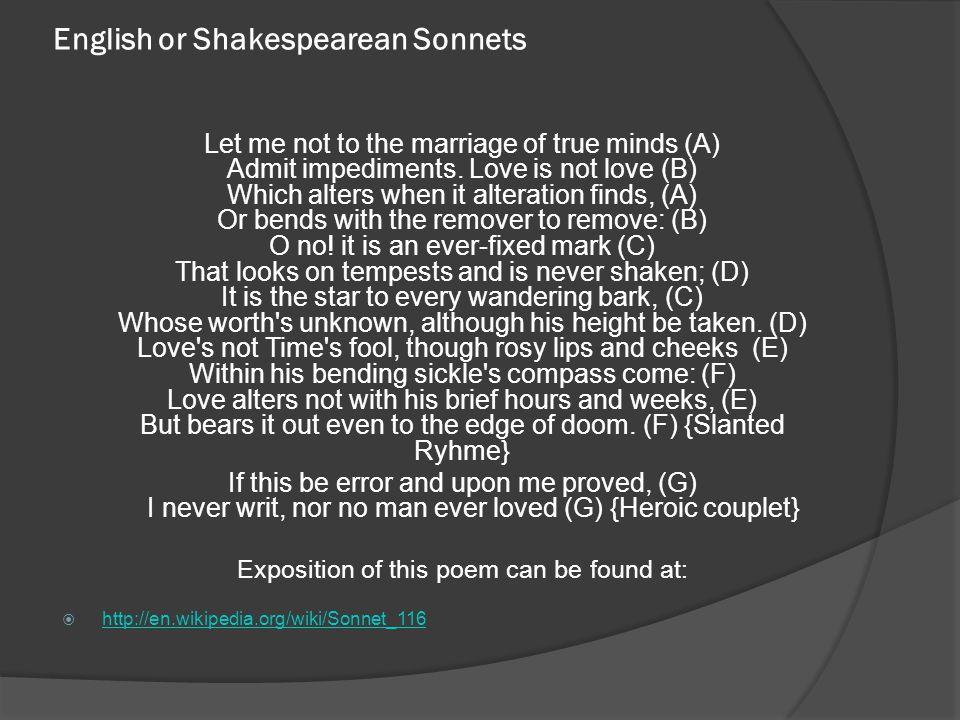 English or Shakespearean Sonnets
