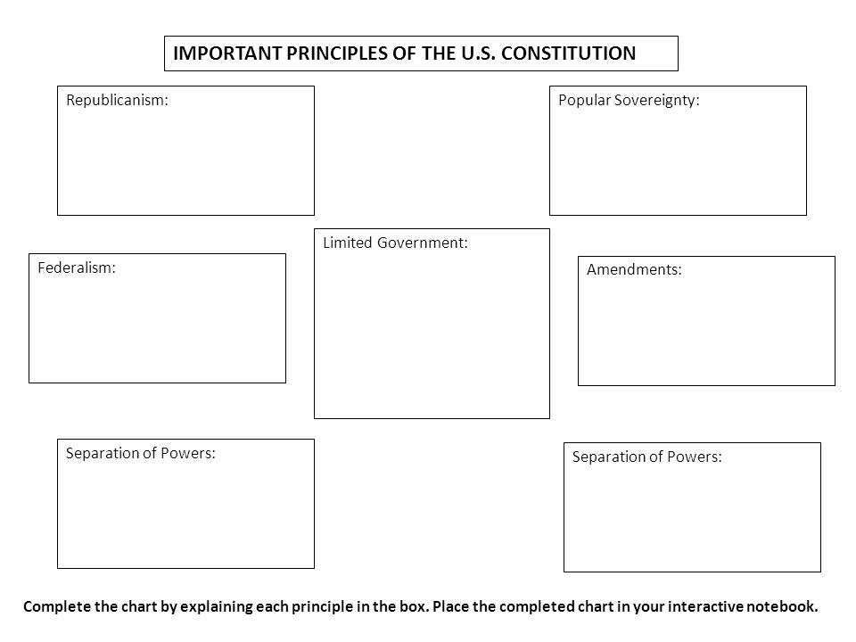 IMPORTANT PRINCIPLES OF THE U.S. CONSTITUTION