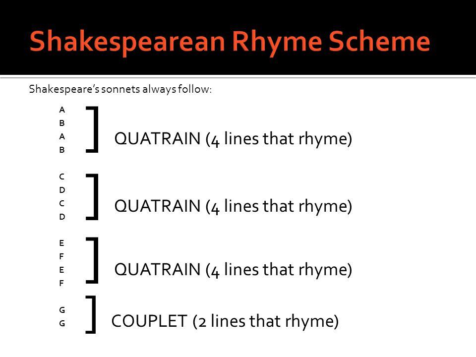 Shakespearean Rhyme Scheme