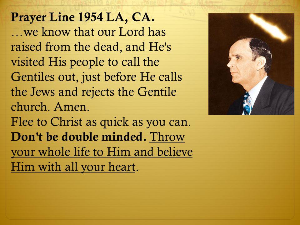 Prayer Line 1954 LA, CA.