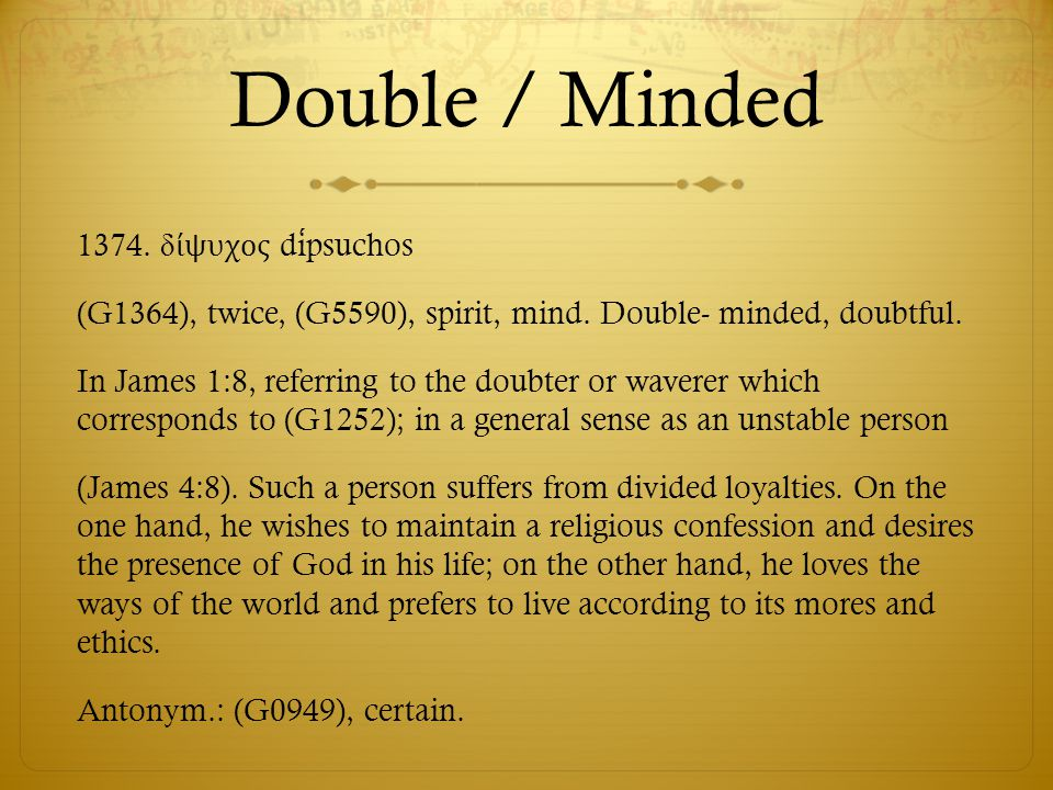 Double / Minded