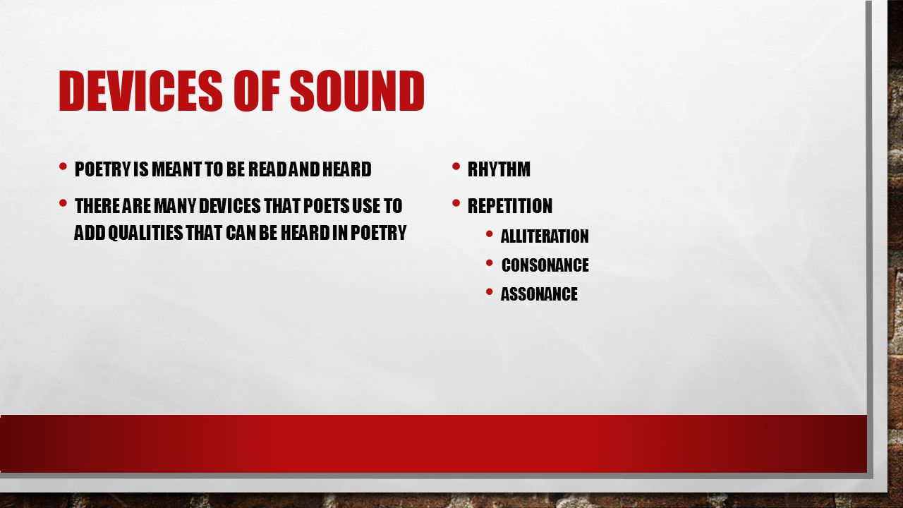 Devices of Sound Poetry is meant to be read and heard