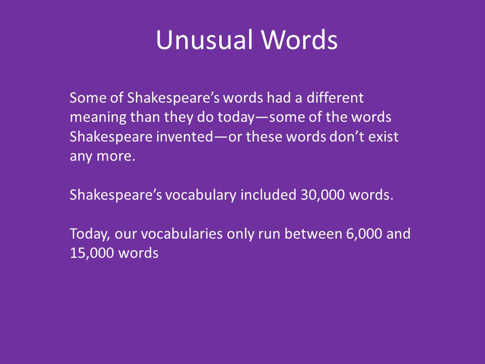 Unusual Words