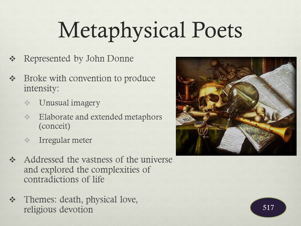 Metaphysical Poets Represented by John Donne