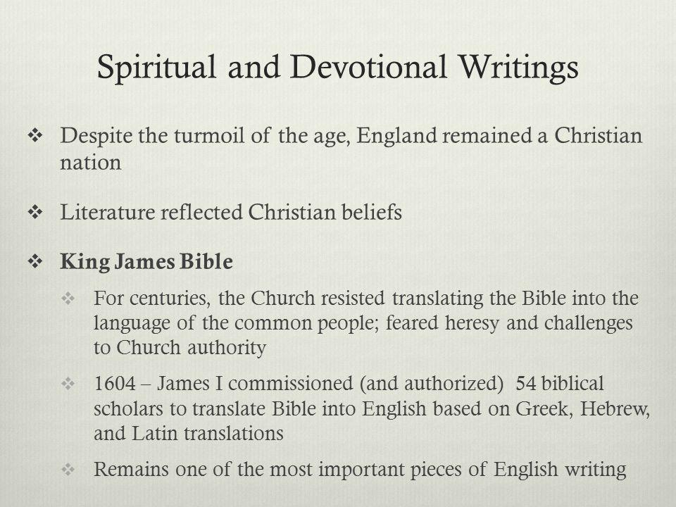 Spiritual and Devotional Writings