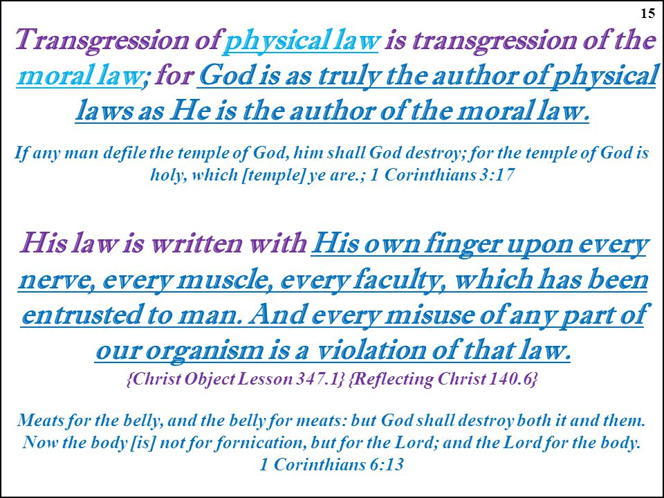Transgression of physical law is transgression of the