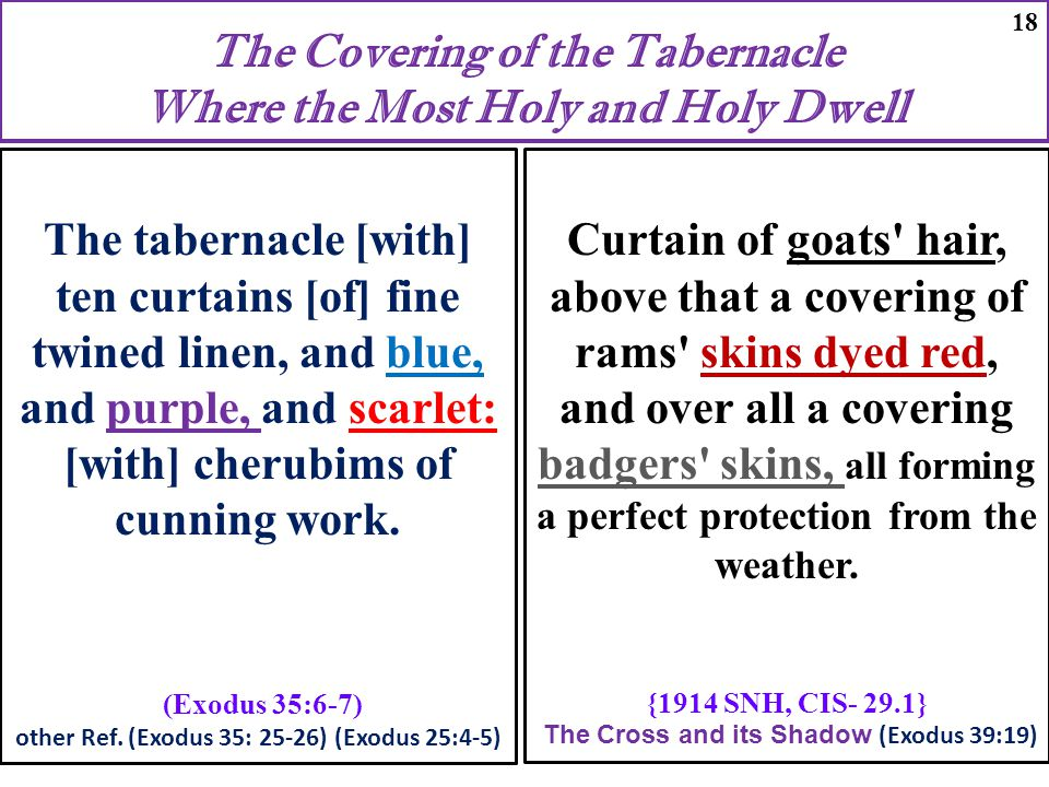 The Covering of the Tabernacle Where the Most Holy and Holy Dwell