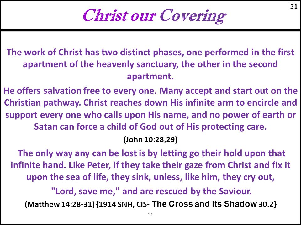 Christ our Covering 21.